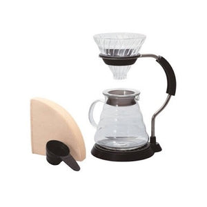 Hario V60 Pour Over Set - Glass Pour Over Hario - spectacled bear coffee