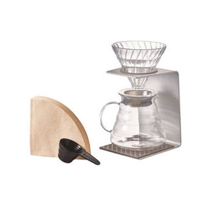 Hario V60 Pour Over Set - Silver Pour Over Hario - spectacled bear coffee