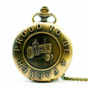 Proud To Be A Farmer Pocket Watch
