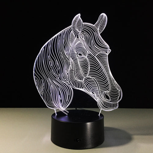 Glowing 3D Effect Horse Head Night/Table Light