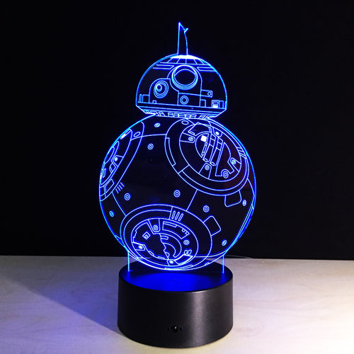Glowing 3D Effect BB-8 Table/Night Light
