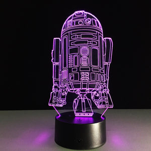 Glowing 3D Effect R2D2 Table/Night Light