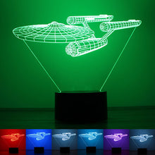 Glowing 3D Effect Starship Enterprise Table/Night light