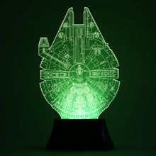 Glowing 3D Effect Millennium Falcon Night/Table Light