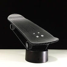3D Effect Skateboard Table Light