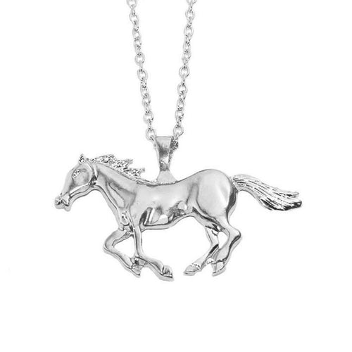 Silver or Gold - Running Horse Necklace