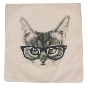 Linen Animal Cushion Cover