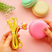 Cute Macaron Earphones with Case - 6 colours