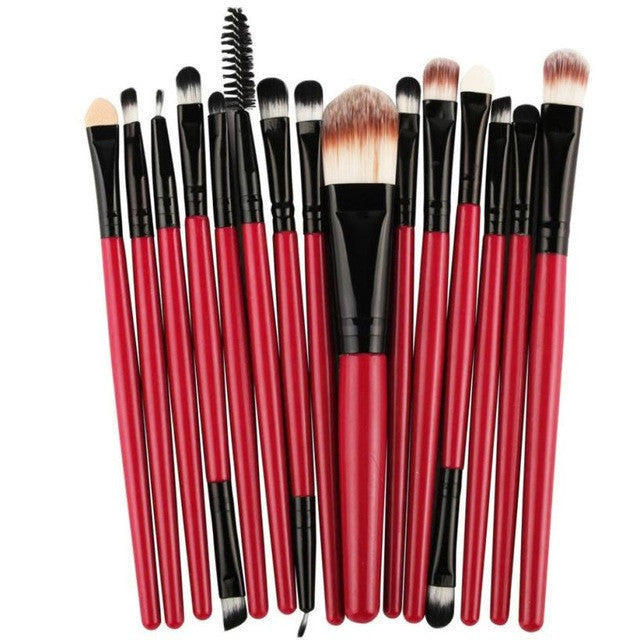 Set of 15 - Professional Makeup Brushes