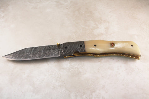 Stärke - Damascus Folding Knife
