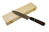 "7 "" ebony Wood & buffalo Horn Chef Knife"