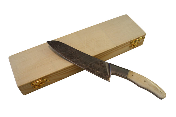 Deluxe Chef Knife - White Camel Bone Handle