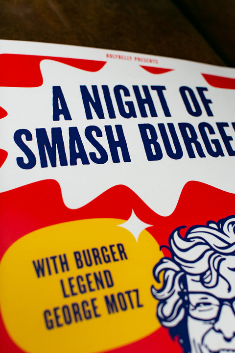 SMASH BURGER NIGHT / HB X GEORGE MOTZ / POSTER