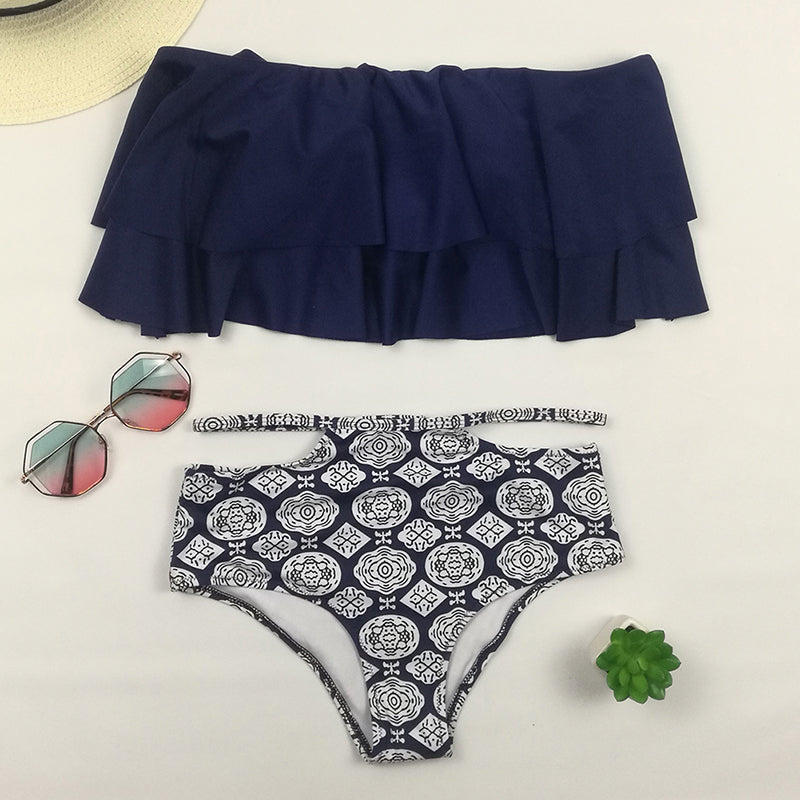 Split Summer High Waisted Bikini - Leisure Merchants