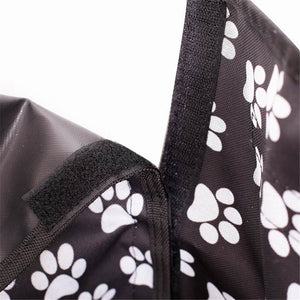 Pet Car Seat Cover Paw Print - Leisure Merchants