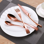 Cutlery Set Stainless Steel Rose Gold  24PC - Leisure Merchants