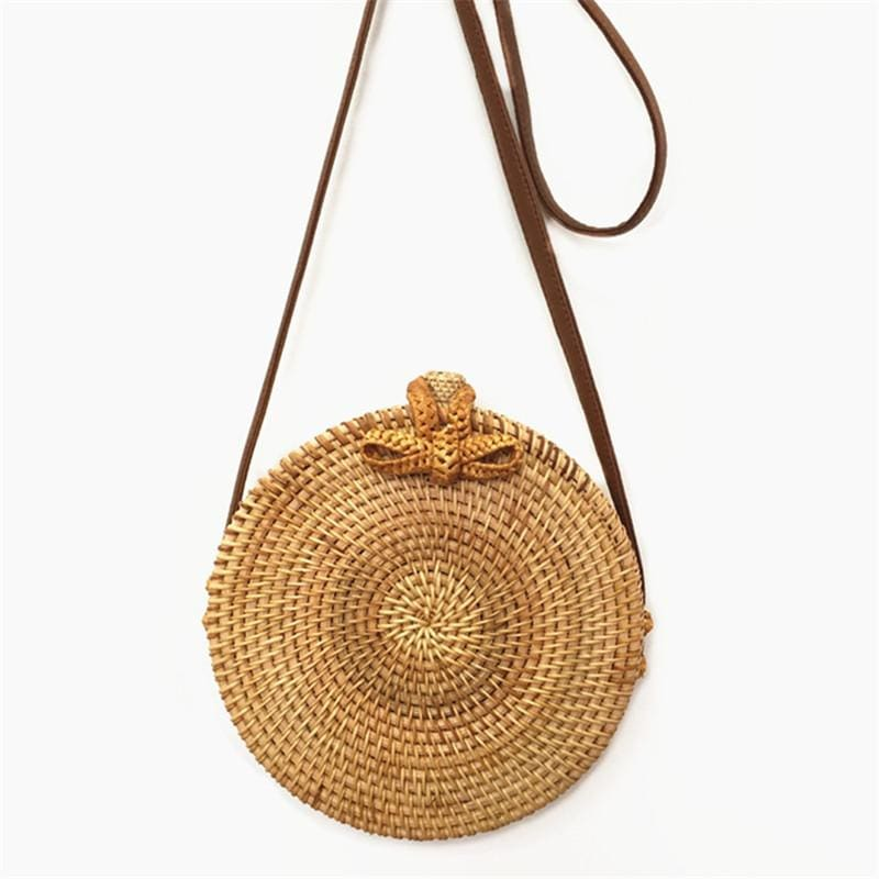 Balinese Straw Crossbody Bag - Leisure Merchants