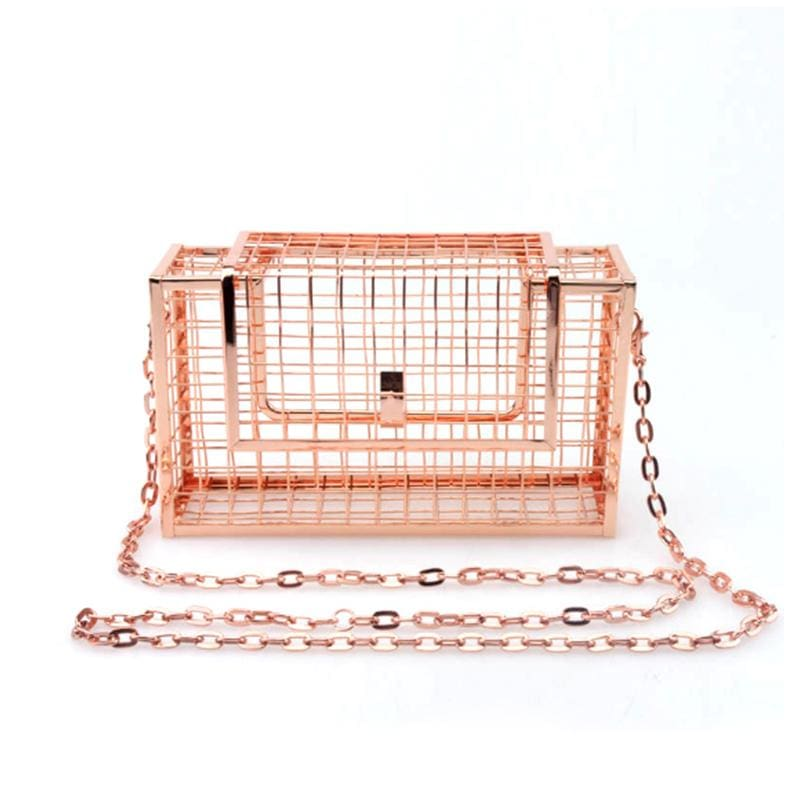 Grid Cage Clutch by Summer Love - Leisure Merchants