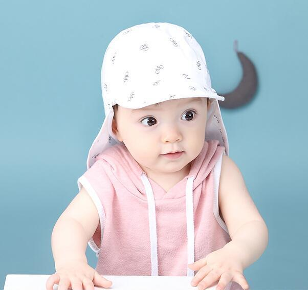 Baby Sun Hat with Neck Flap - Leisure Merchants