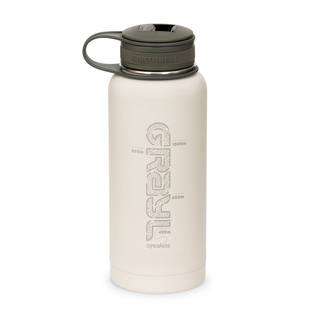 Gral x Earthwell Kewler Double Walled Vacuum Insulated Flask with Bottle Opener Cap (945ml) - Baja Sand
