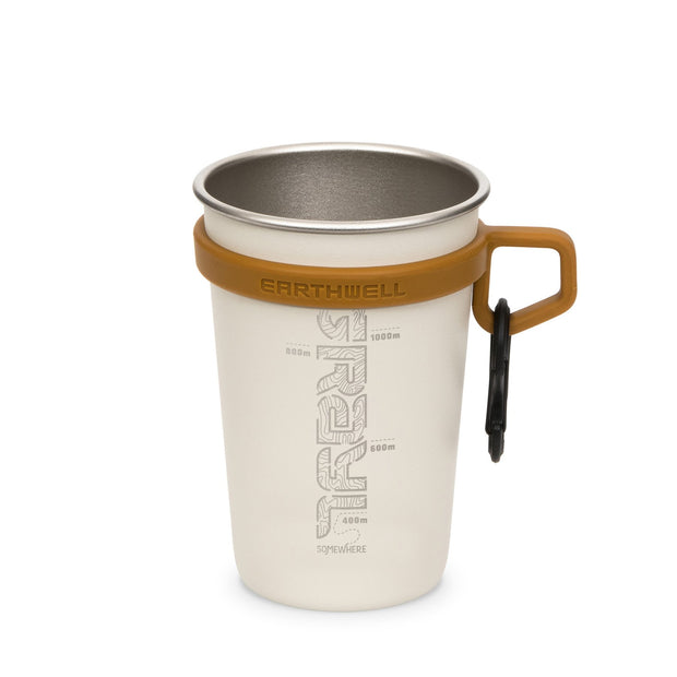 Grayl x Earthwell Stainless Steel Insulated Travel Camp Cup - Baja Sand
