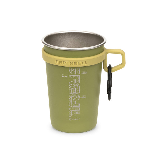 Grayl x Earthwell Stainless Steel Insulated Travel Camp Cup - Sequoia Green