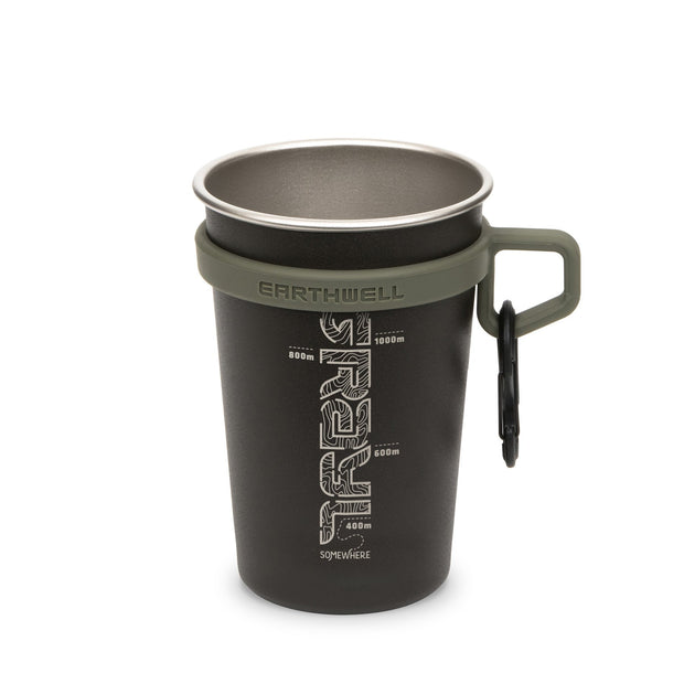 Grayl x Earthwell Stainless Steel Insulated Travel Camp Cup - Volcanic Black
