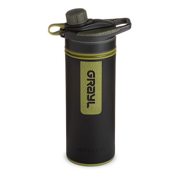 Grayl Geopress Purifier in Camo Black (closed)