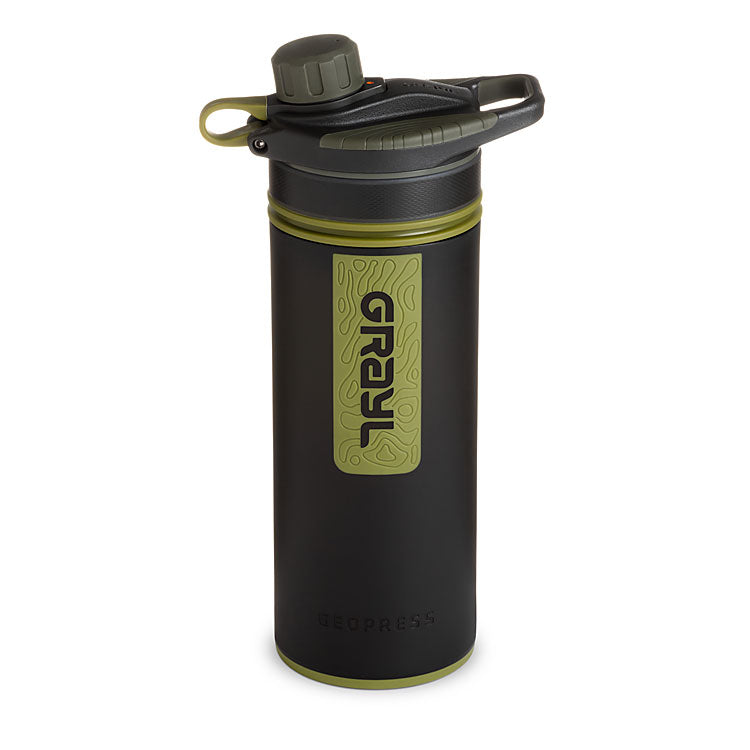 GEOPRESS™ Water Purifier – Camo Black
