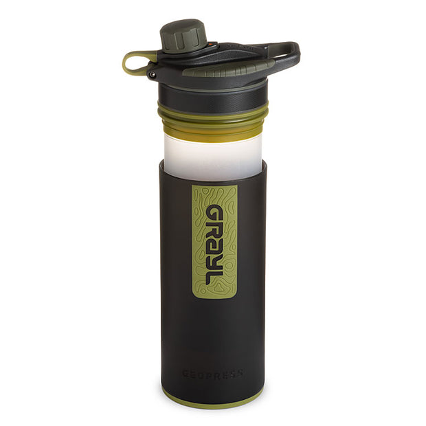 Grayl Geopress Purifier in Camo Black (open)