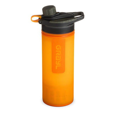 Grayl Geopress Purifier in Visibility Orange (closed)
