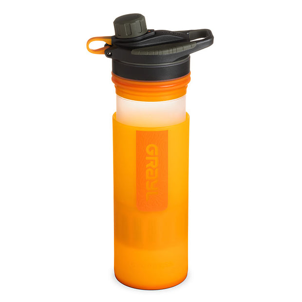 Grayl Geopress Purifier in Visibility Orange (open)