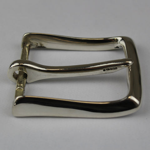 Solid English sterling silver hallmarked designed and made by Sam Brown London Leather belt and bag makers