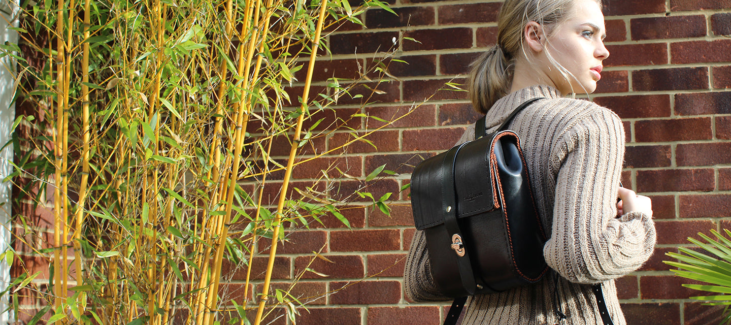 UK tanned sustainable leather backpack made in Britain