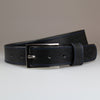 Black Business Belt with Polished Nickel Buckle