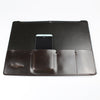 English leather laptop portfolio black & dark brown made in UK