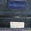 Harris Tweed lining blue & black Herringbone Sam Brown London UK