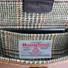 Harris Tweed lining cream rust & sage over check Sam Brown London UK