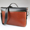 The Sam Brown Briefcase  Chestnut & Black