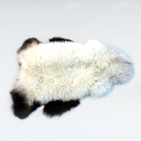 British Natural Sheepskin Rugs and Throws - Badger Face Welsh