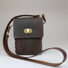 front Gamekeeper Across Body Bag Brown English Bridle leather by Sam Brown London Wiltshire UK