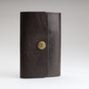 Key case in dark brown British bridle leather handmade to order by Sam Brown London studios in Wilthire