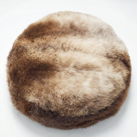 LUXURY soft eco friendly beanbag in English breed sheepskin made in the UK