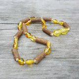 Baltic Amber Beans Hazelwood Teething Necklace
