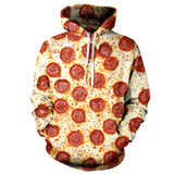 Pizza Fashion Harajuku Women/Men Hoodies 3D Printed Pullover Casual Long Sleeve Casual Streetwear Hip Hop Tracksuit