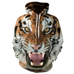 Fashion Sweater Tiger 3d Printed Hoodies Casual Long Sleeve Loose Women/Men Sweatshirts Pullover Couples