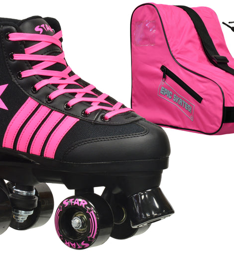 Epic Star Vela Quad Roller Skates Package
