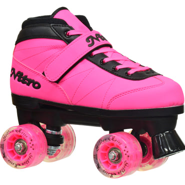 Epic Light Up Nitro Turbo Pink Quad Speed Skates