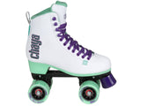 Chaya Melrose White and Teal Quad Skates