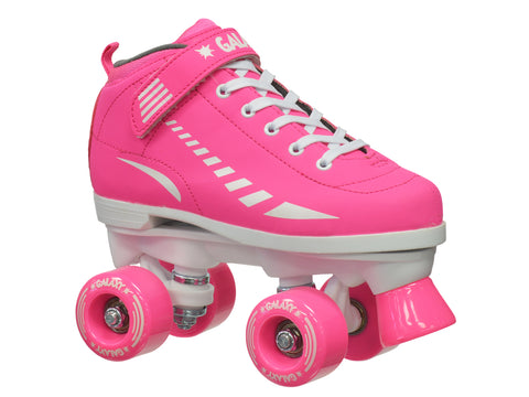 Epic Galaxy Elite Pink Quad Roller Skates Package